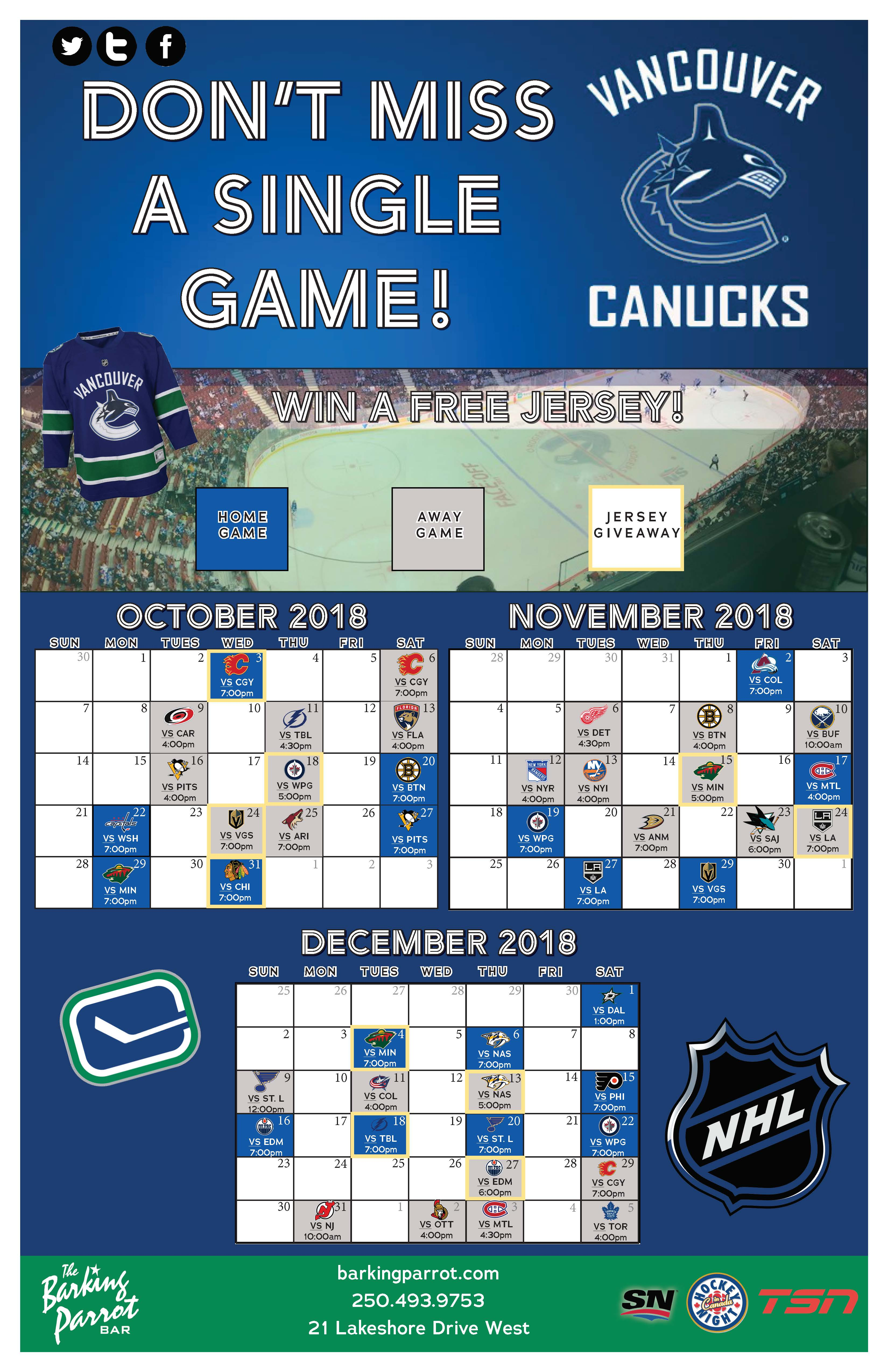 Canucks Jersey Giveaway